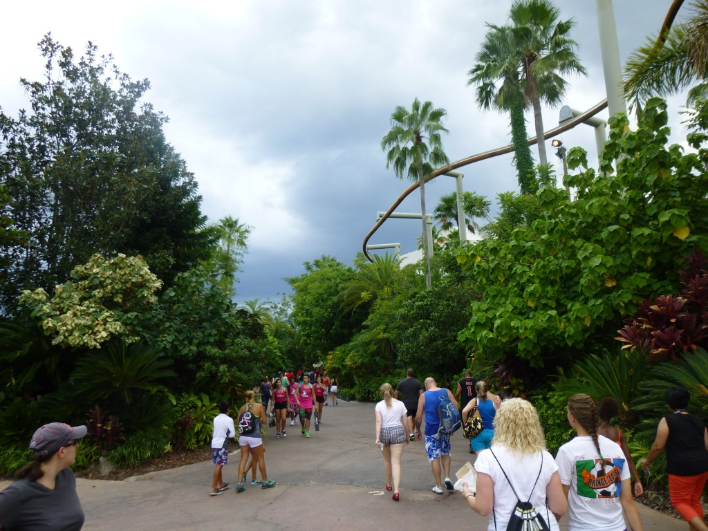Former location of the Jurassic Park arch