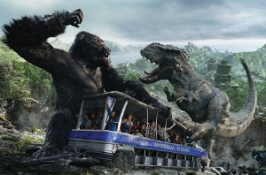 King Kong 360 in Hollywood uses huge 3D screens around the tram vehicles
