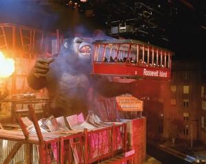 Impressive large-scale animatronic on the old Kongfrontation ride