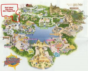 Where Skull Island will be on the park map