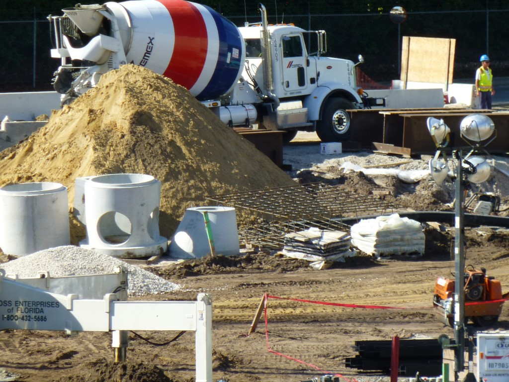 Lots and lots of concrete yet to pour
