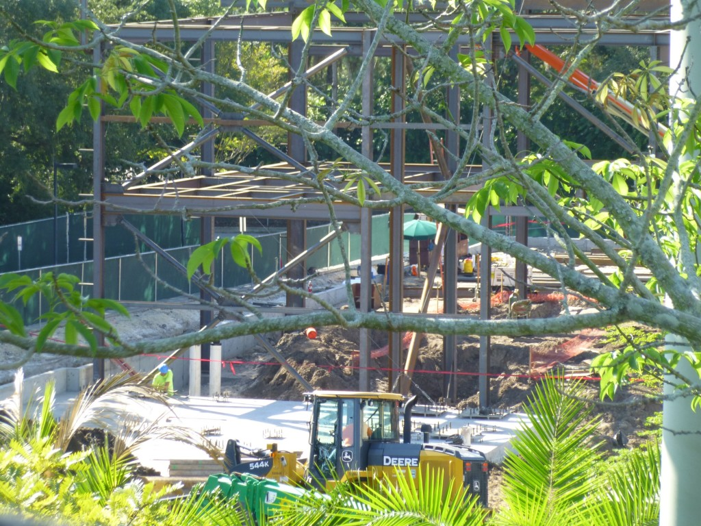 There's still much more foundation to be poured, but you can see connections where pillars will be put in front of the structure