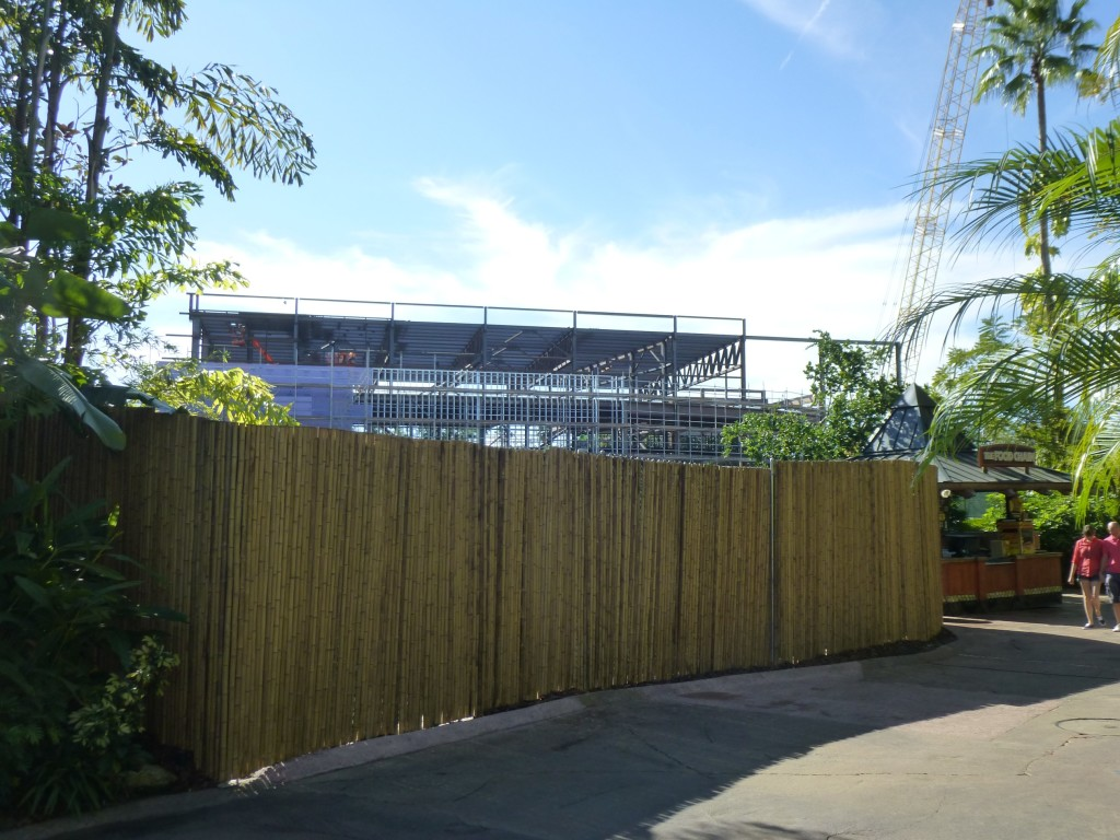 The view of the massive structure walking from the Toon Lagoon side