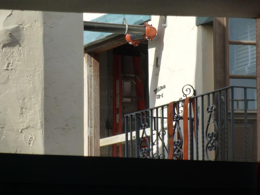 Seeing inside a door on the second floor