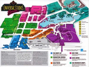 Park Map in 1992 with How to Make a Mega Movie Deal listed