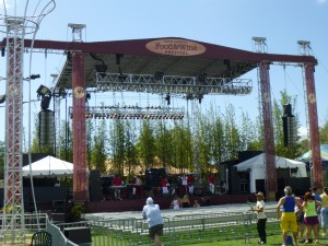 Large event stage for concerts