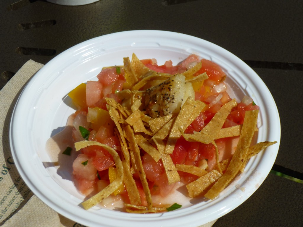 Pan Seared Scallops with Watermelon Salsa: This was the most disappointing dish as I could hardly taste the watermelon, just lots of tomatoes and onion. And there wasn't much scallop, but the scallop itself did taste good.
