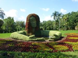 The Spirit of Spring is a massive topiary near the event, featuring more than 160,000!