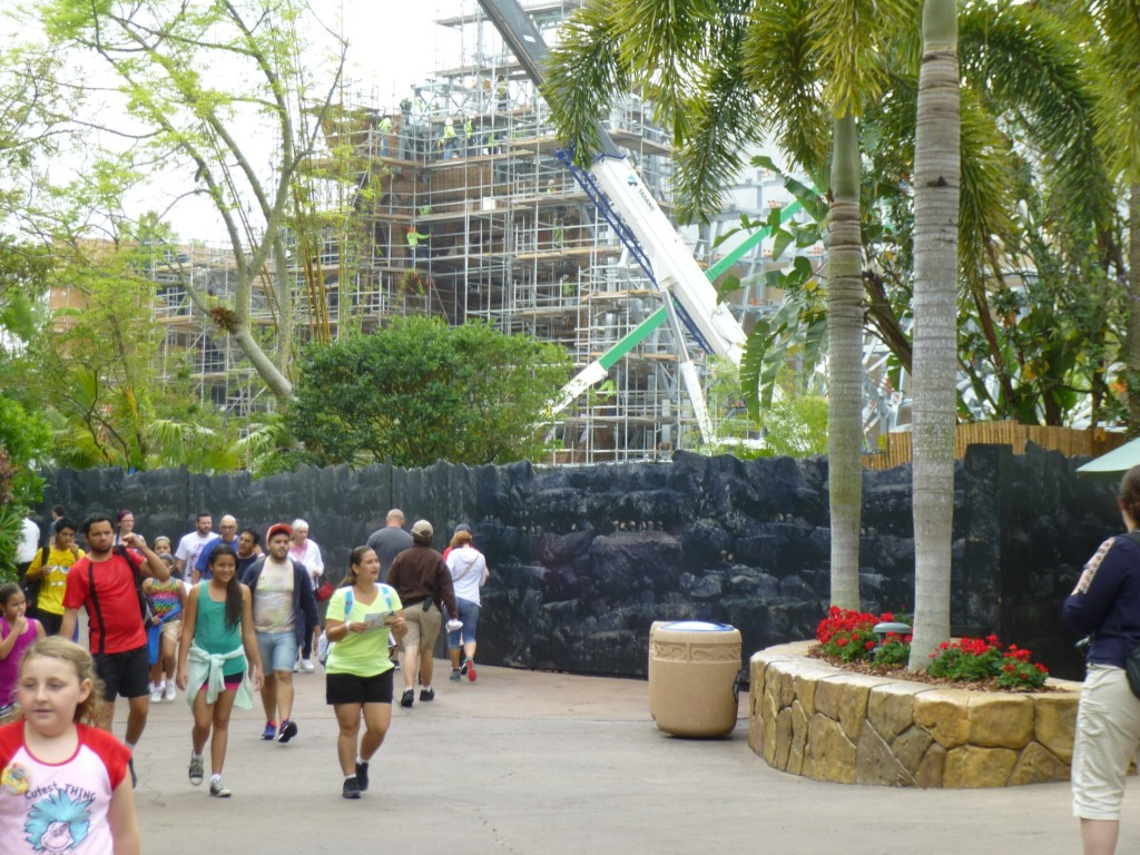 Approaching the area from Jurassic Park