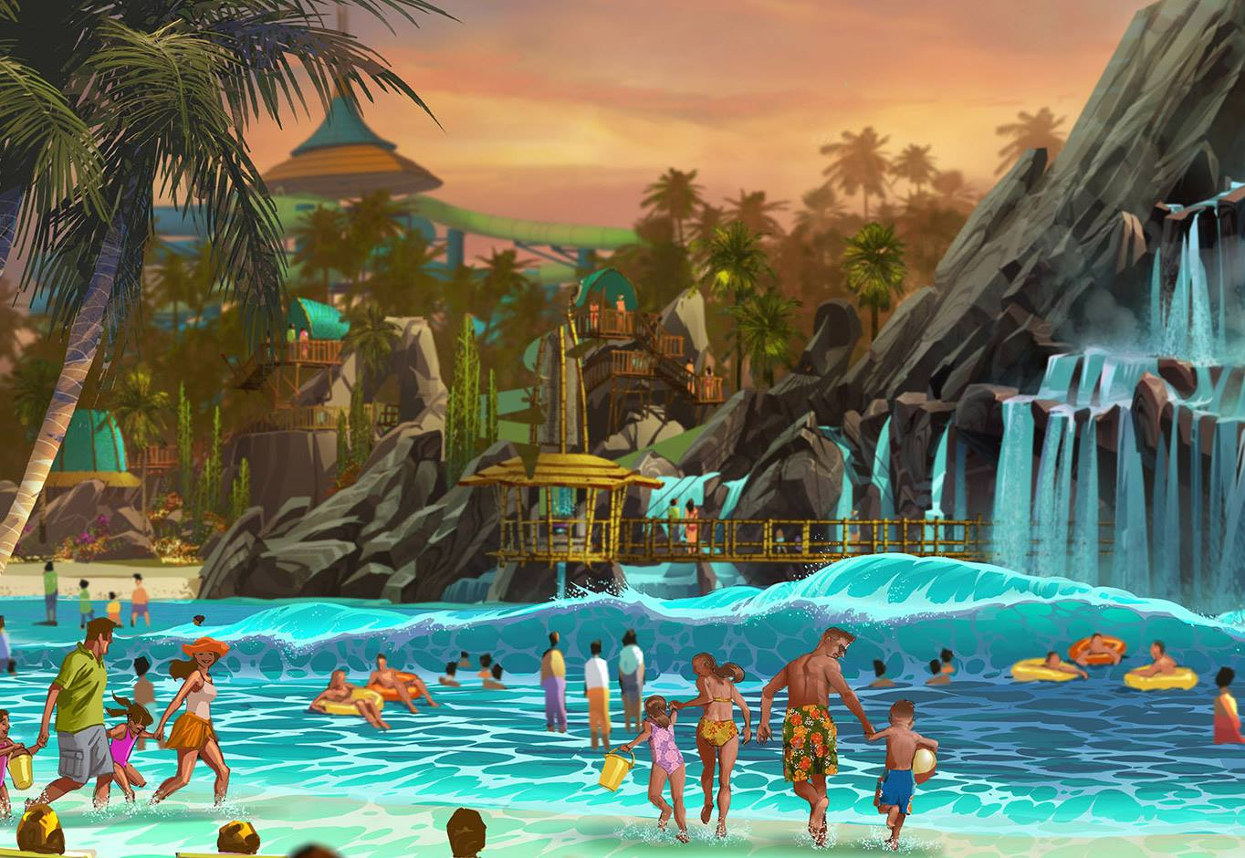 Universal orlando announces their new water park volcano for Florida pool show 2015