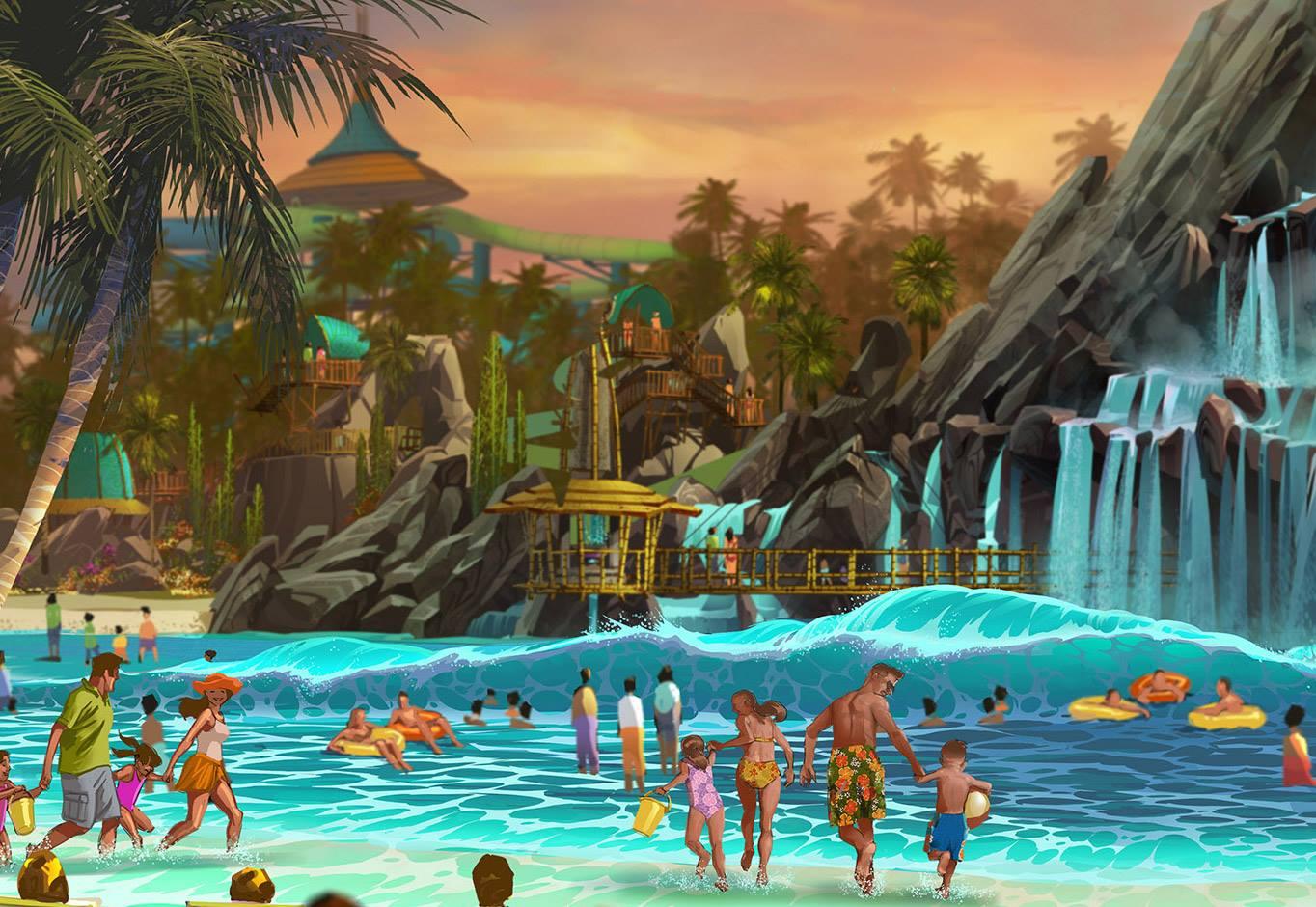 Universal orlando announces their new water park volcano for Pool show orlando