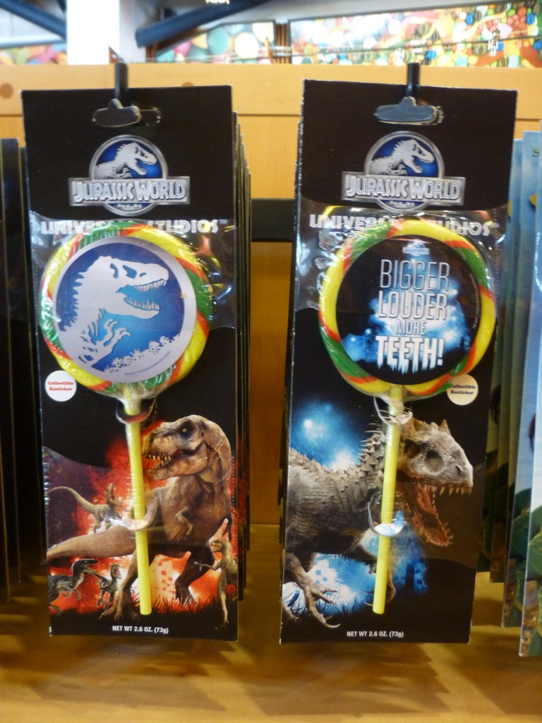 Exclusive Jurassic World lollipops with free sticker!
