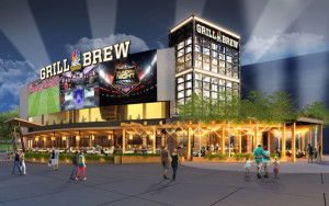 Concept art for NBC Sports Grill & Brew