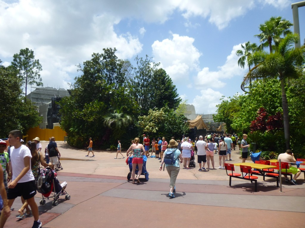 Wide view of the area standing in front of Ripsaw Falls