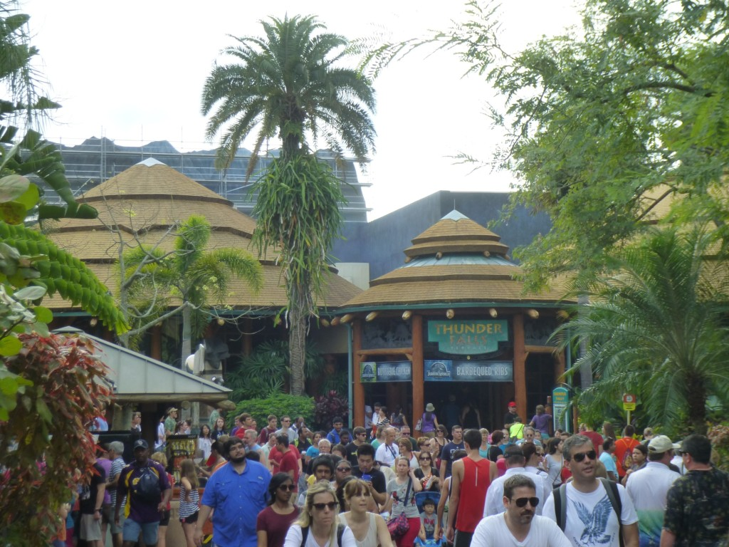 The view from Jurassic Park, with Kong looming over Thunder Falls