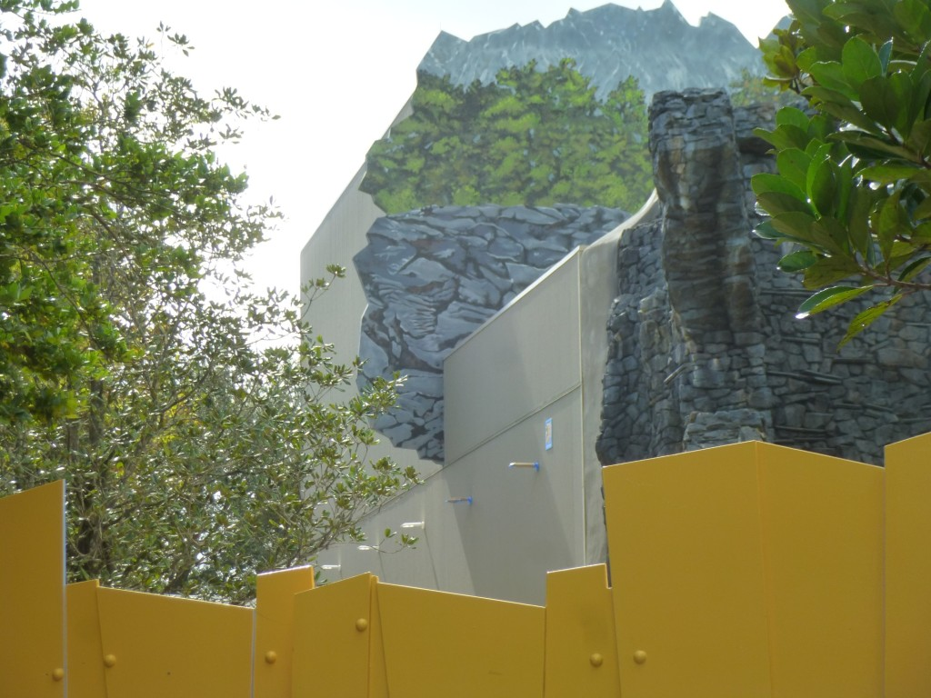 Edge of building, where theming ends