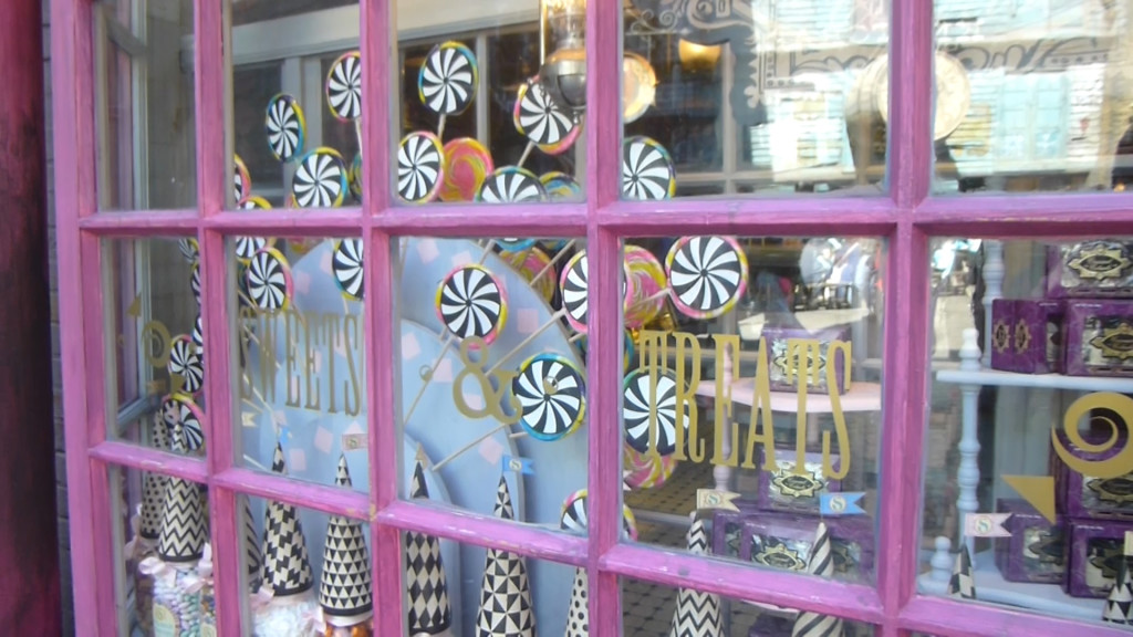 Whimsical window display