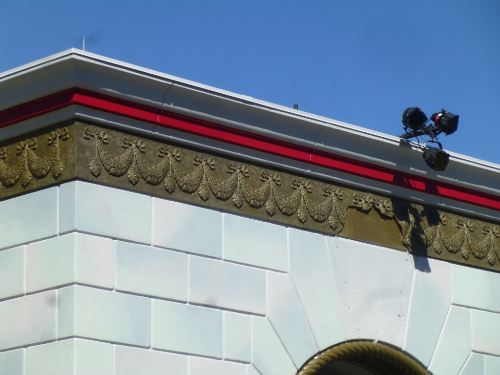 The trim along the top was repainted in bright red