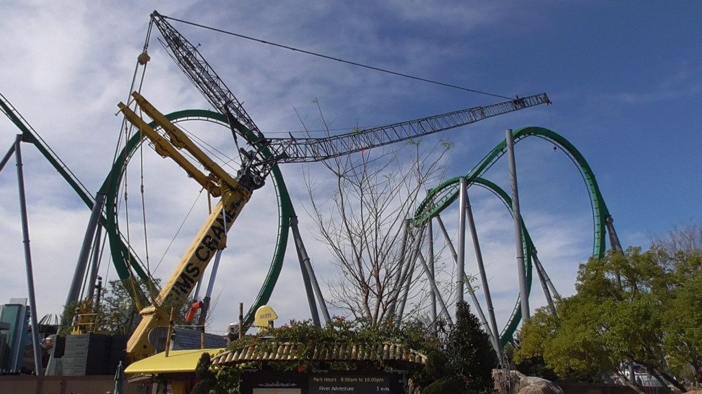 First loop and cobra roll over lagoon