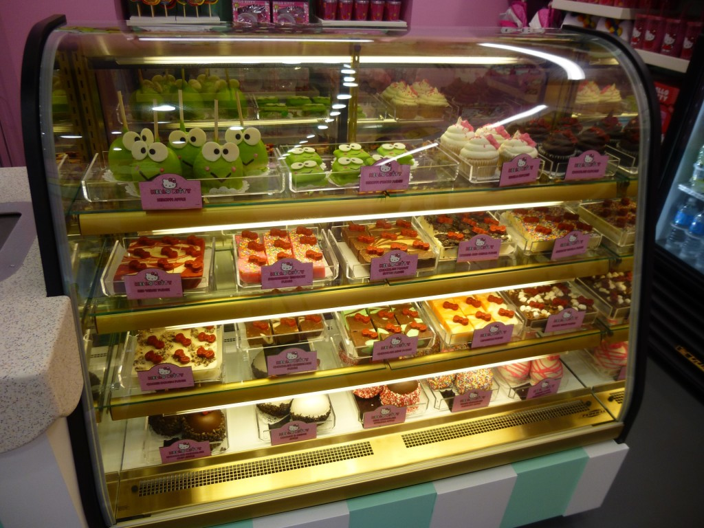 Yummy looking fresh desserts case