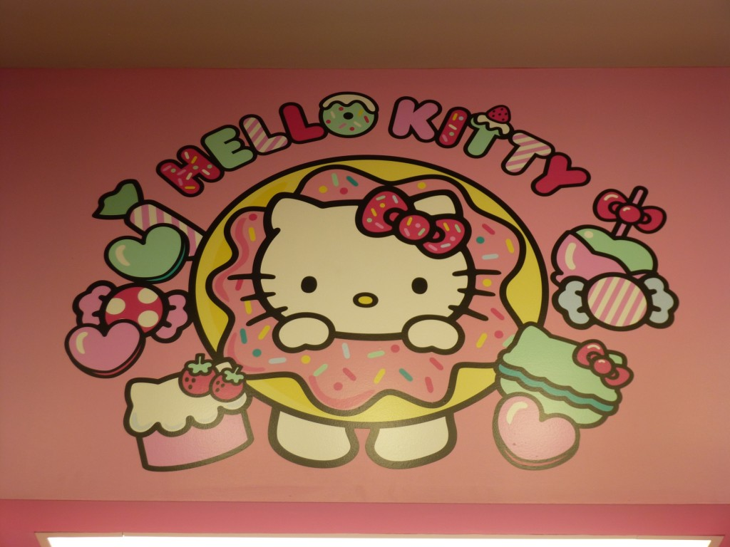 Hello Kitty treats sign