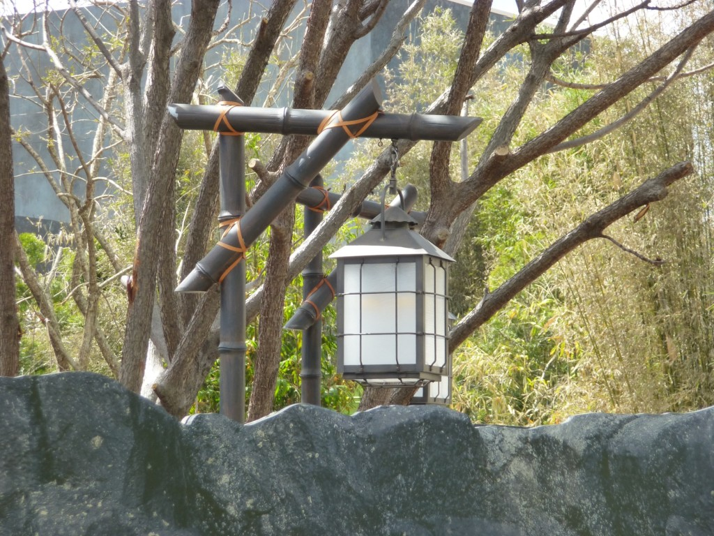 Lanterns installed along queue and walkway paths