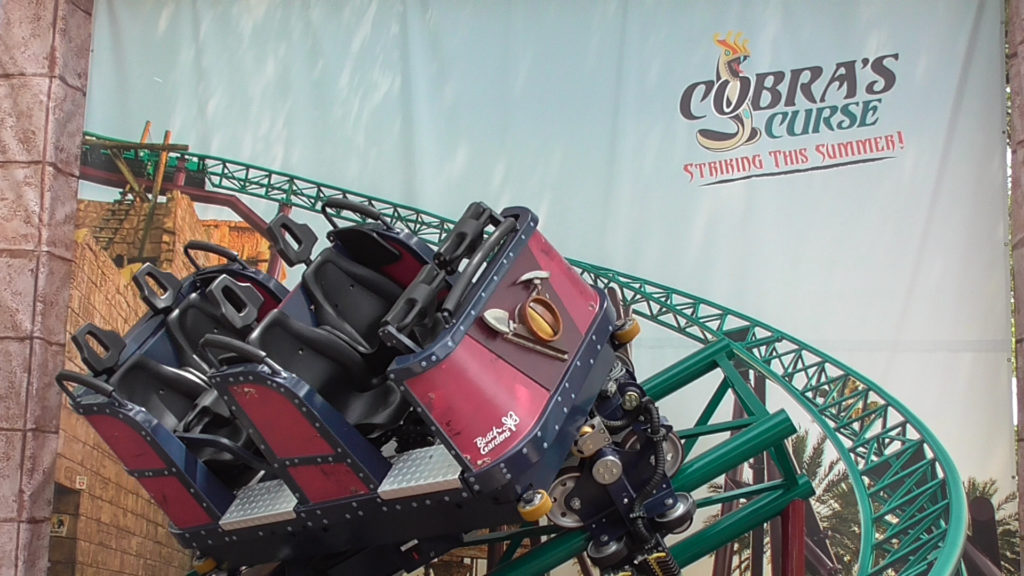 Rotating ride vehicle sample to show off new coaster features
