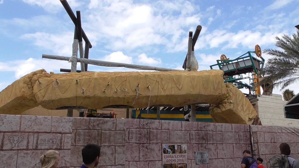 View of what will become the ride entrance