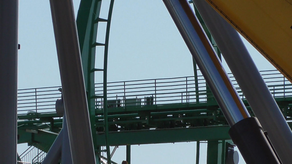 Closer view of coaster breaks