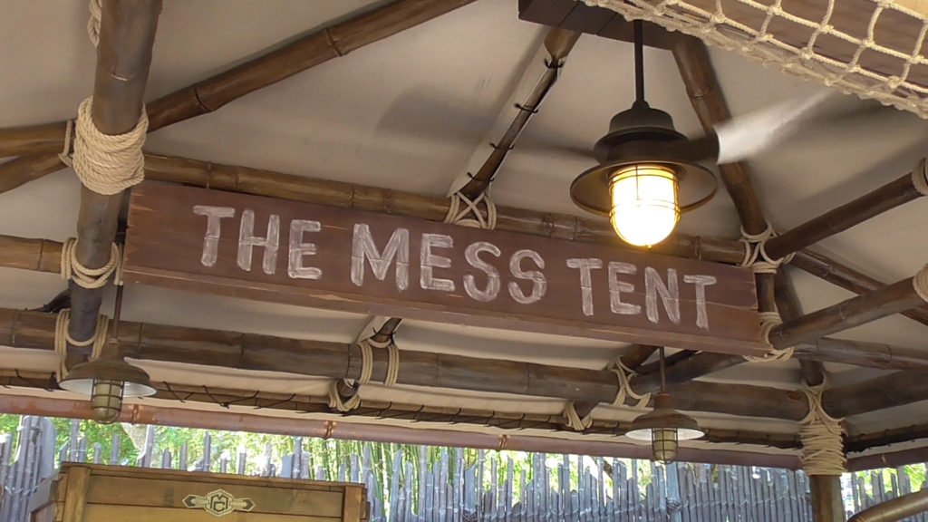 The Mess Tent sign