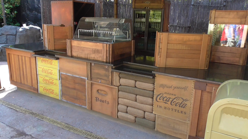 Piecemeal design with crates, sandbags, and more