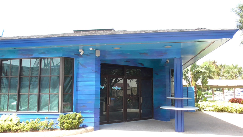 Closed gift shop received new area paint scheme