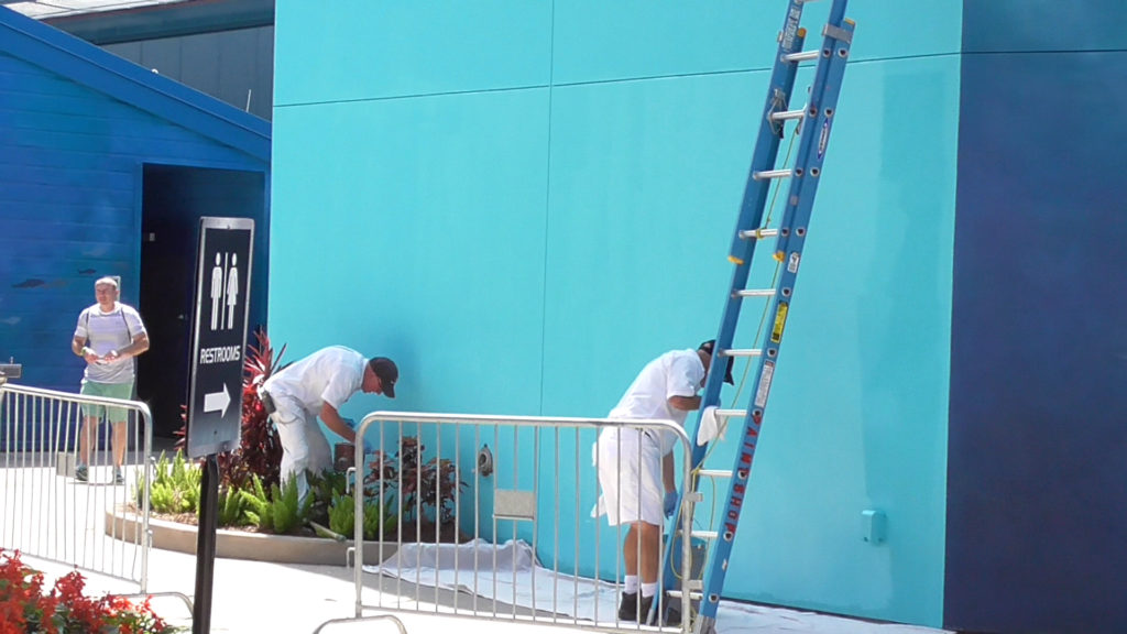 Painting another wall near Mako entrance