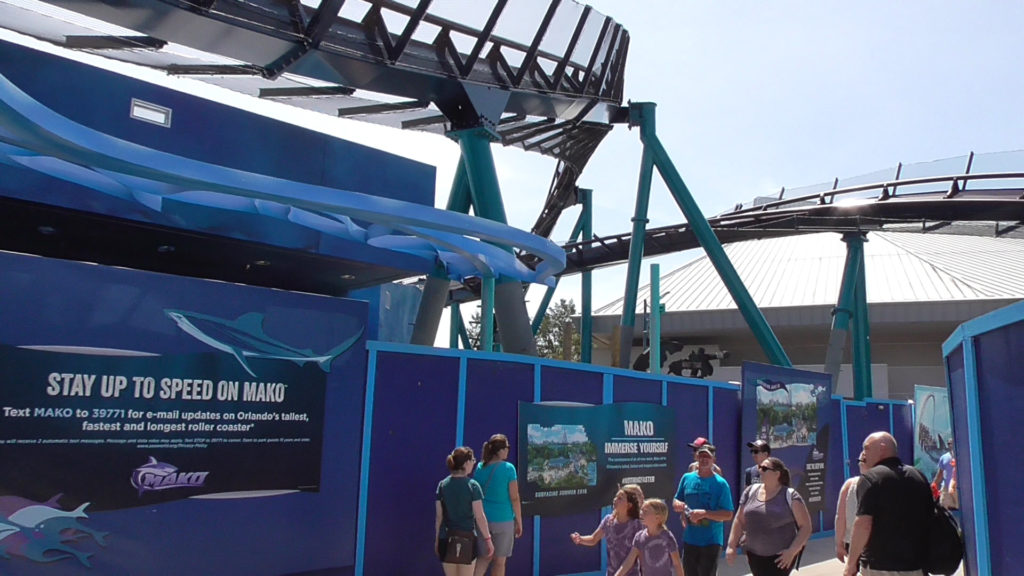 Future entrance to Mako, with track twisting above
