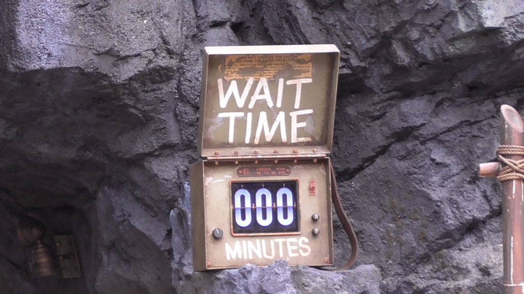 Wait Time sign