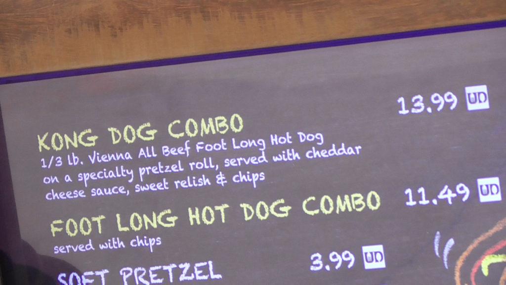 Kong themed hot dog