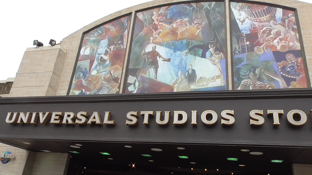 Visiting the Universal Studios Store just inside the park