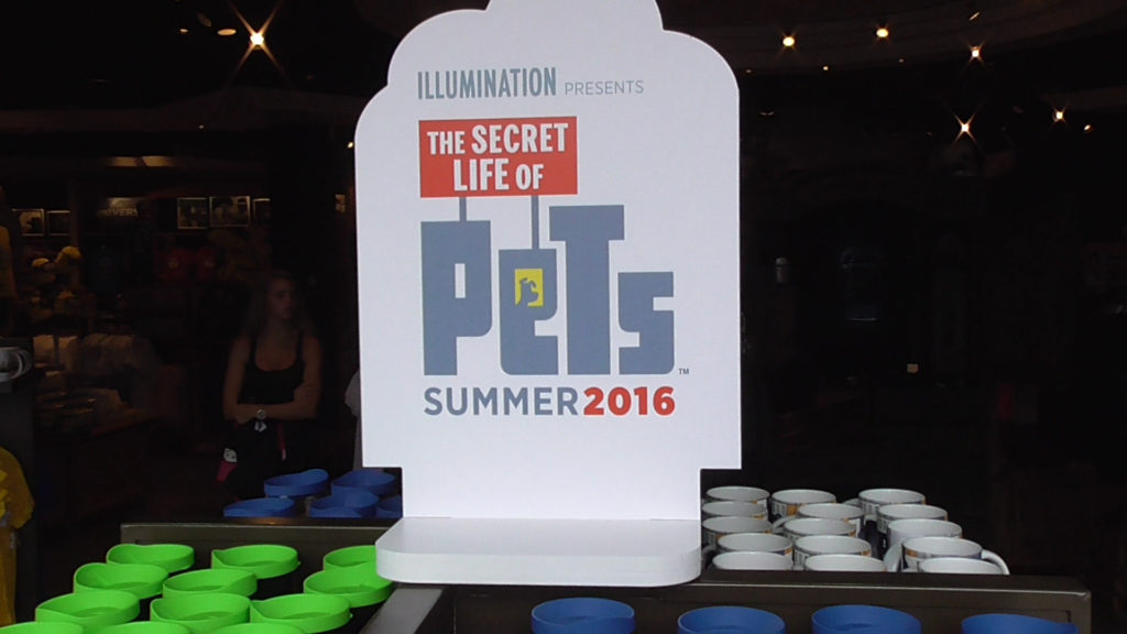The Secret Life of Pets (SLoP) merch added right in the front entrance