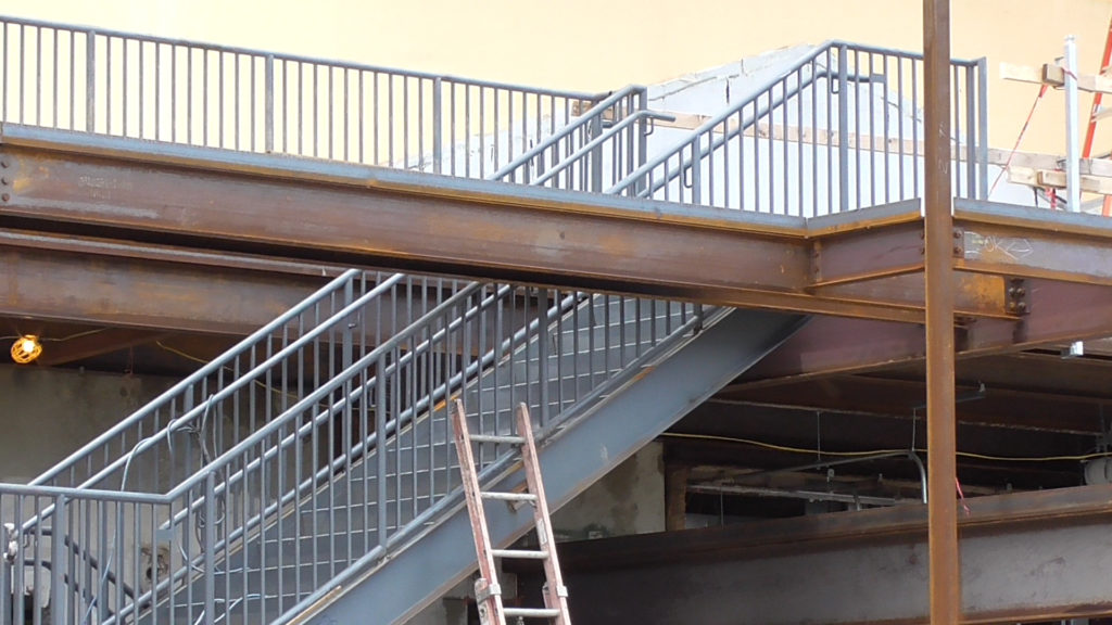 Many believe these stairs will be temporary, but maybe they will be used for team members after ride opens?