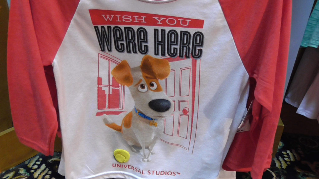 And this design has a shirt too, (featuring Universal Studios logo)