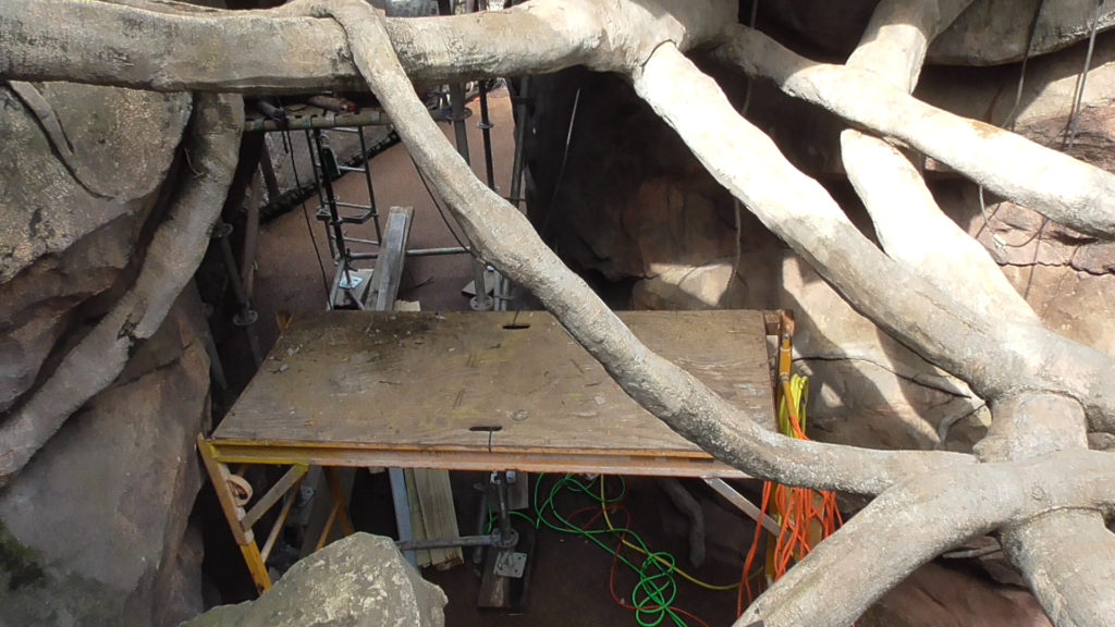 Work area below