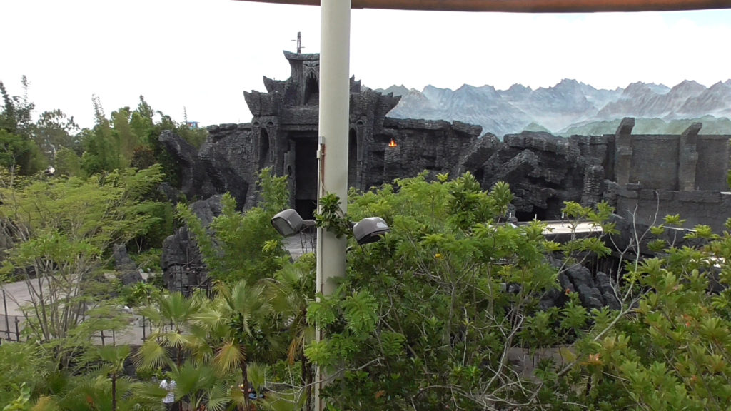 The lookout tower in Camp Jurassic is now back open for guests