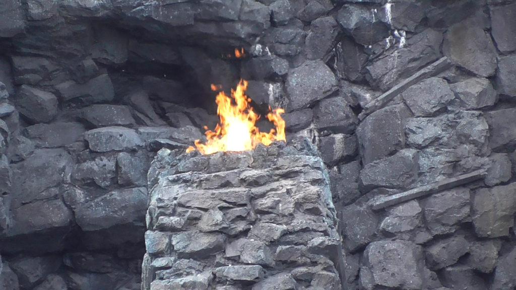 Kong torches burning bright