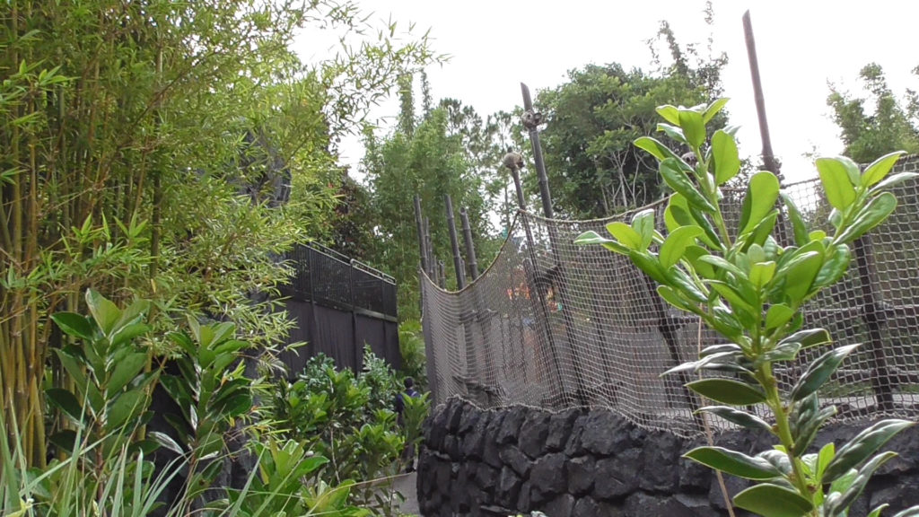 Something has been constructed near Kong's outdoor ride portion
