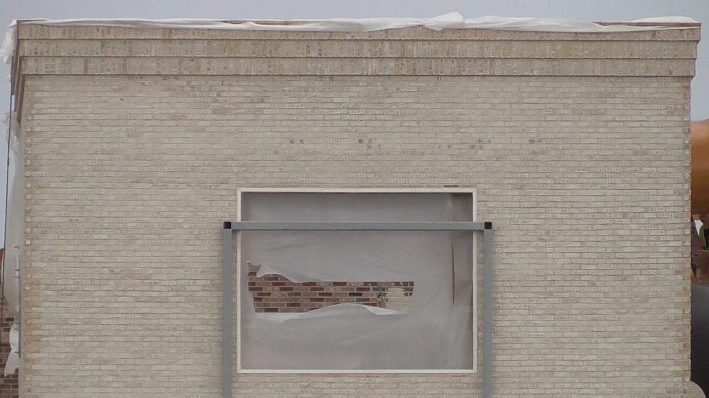 Brickwork looking great in center of facade