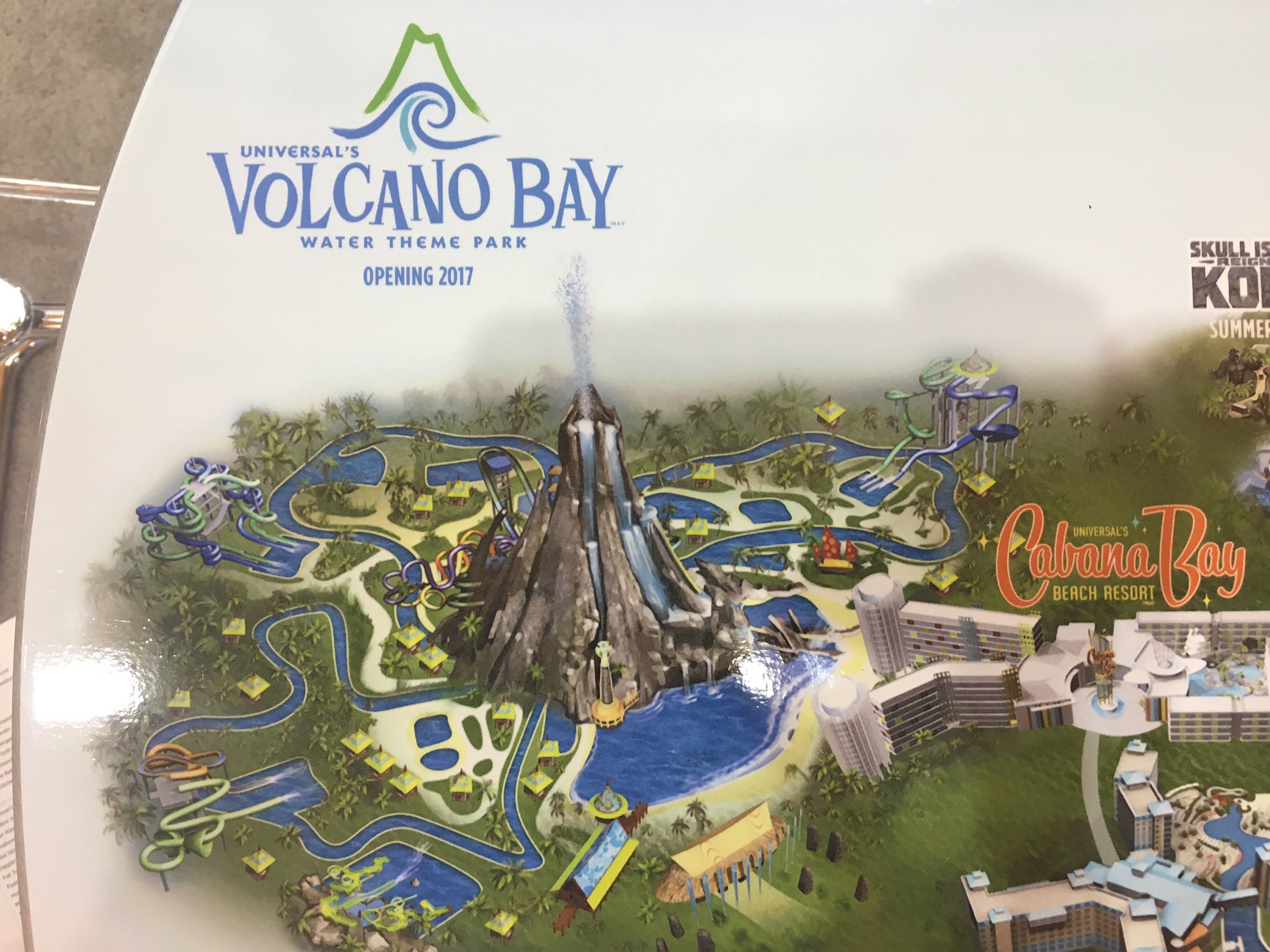 Volcano Bay Construction Update Volcano Rises Higher  Plus Wave - Usf location map