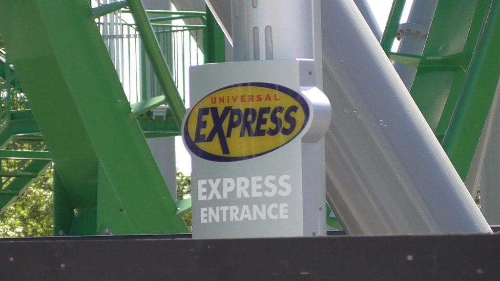 Express entrance on the right