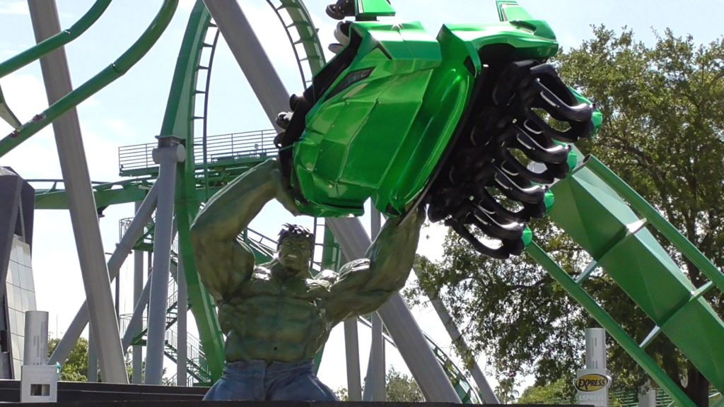 New full-size highly detailed Hulk sculpture is the centerpiece to the new entrance