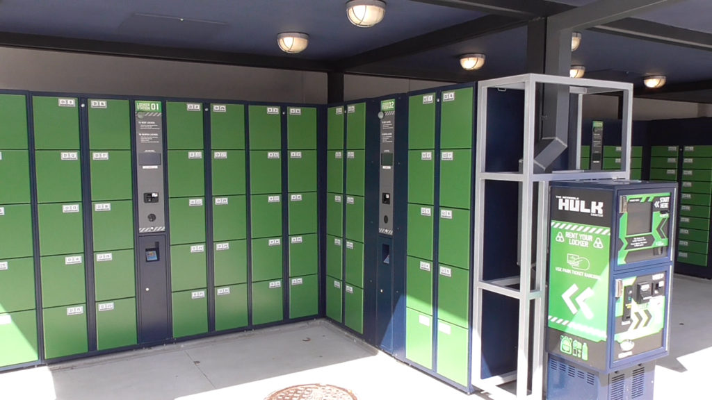 Plus one section of larger lockers too