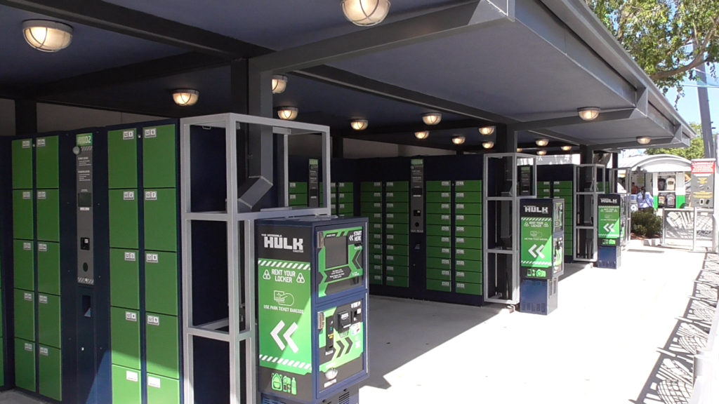 Overview of the expanded locker area